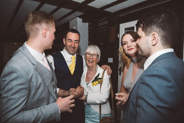 drunk people at Essex wedding