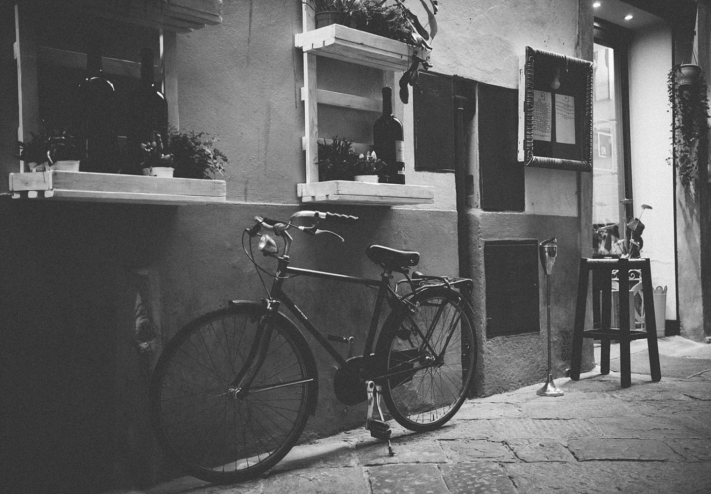 Retro bicycle in Rome Italy