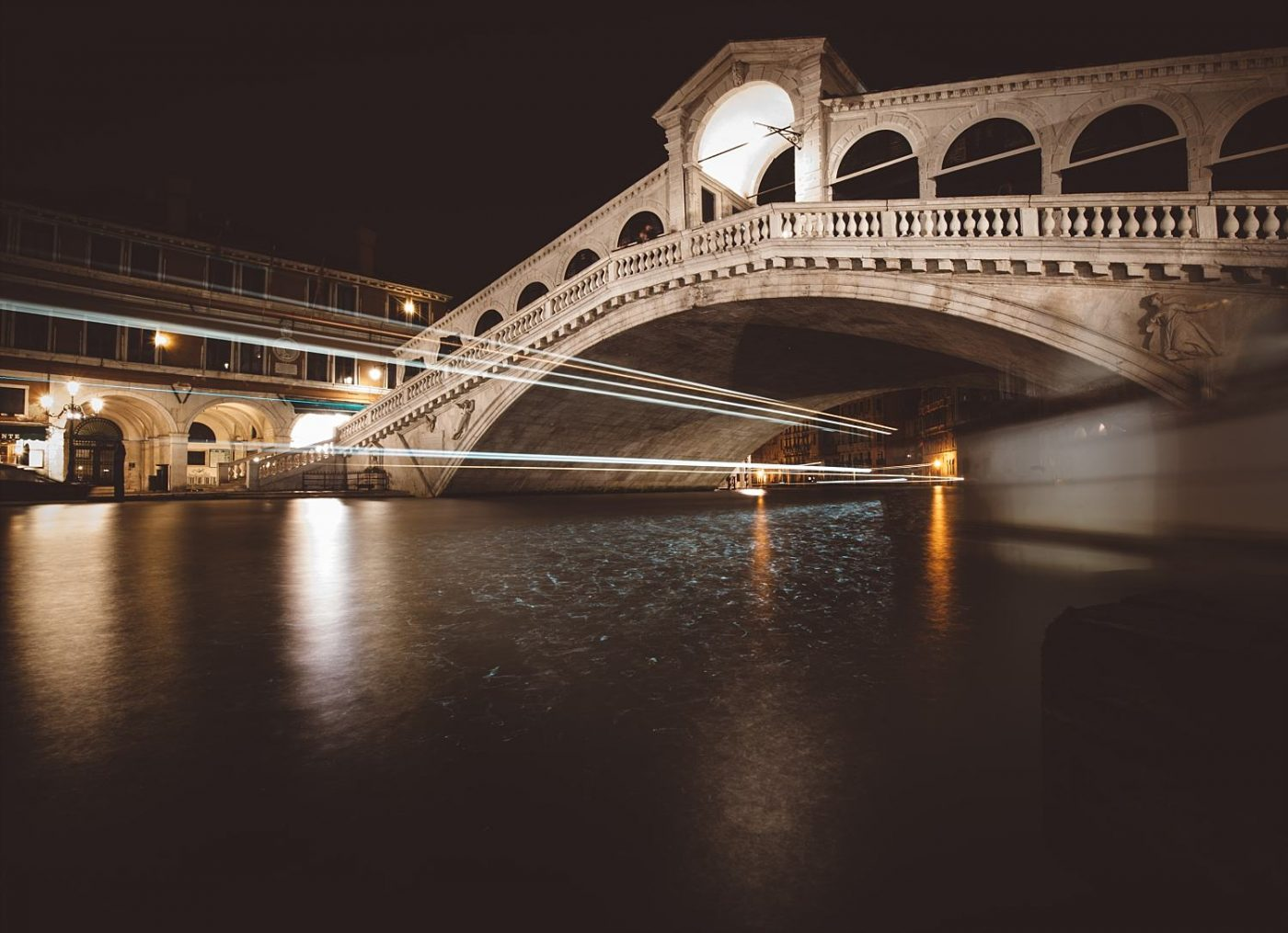 Rialto Bridge Venice long exposure photography