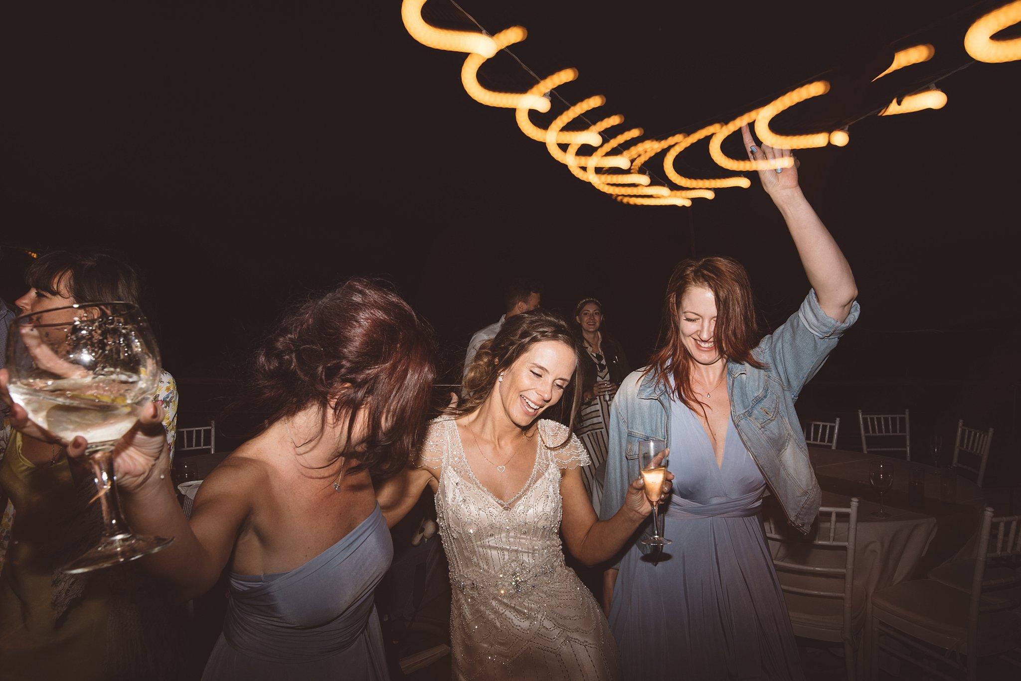 Fun Ibiza Bride with her bridal party