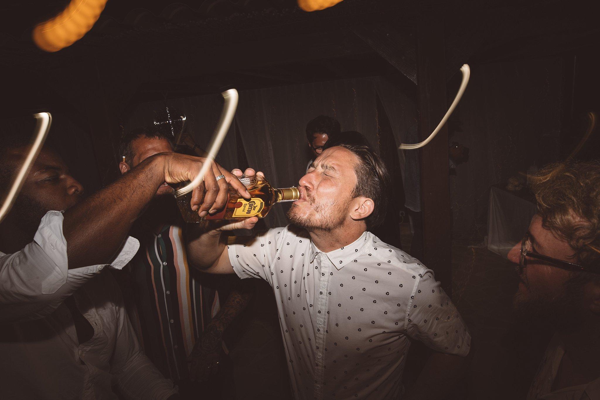 dragging the shutter at a fun Ibiza wedding