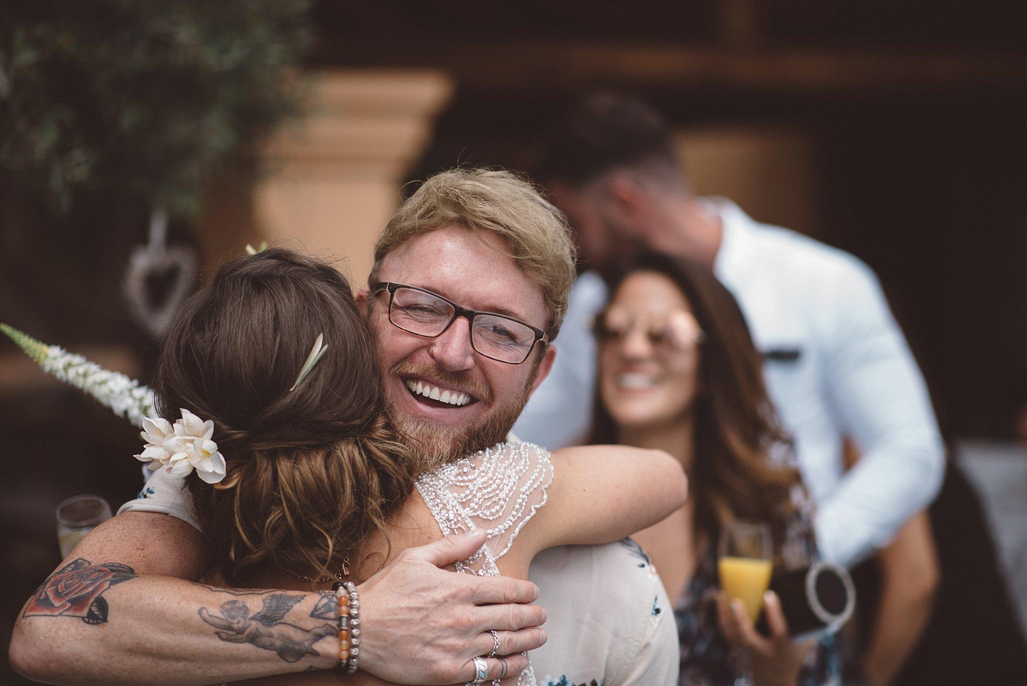 wedding hugs in Ibiza