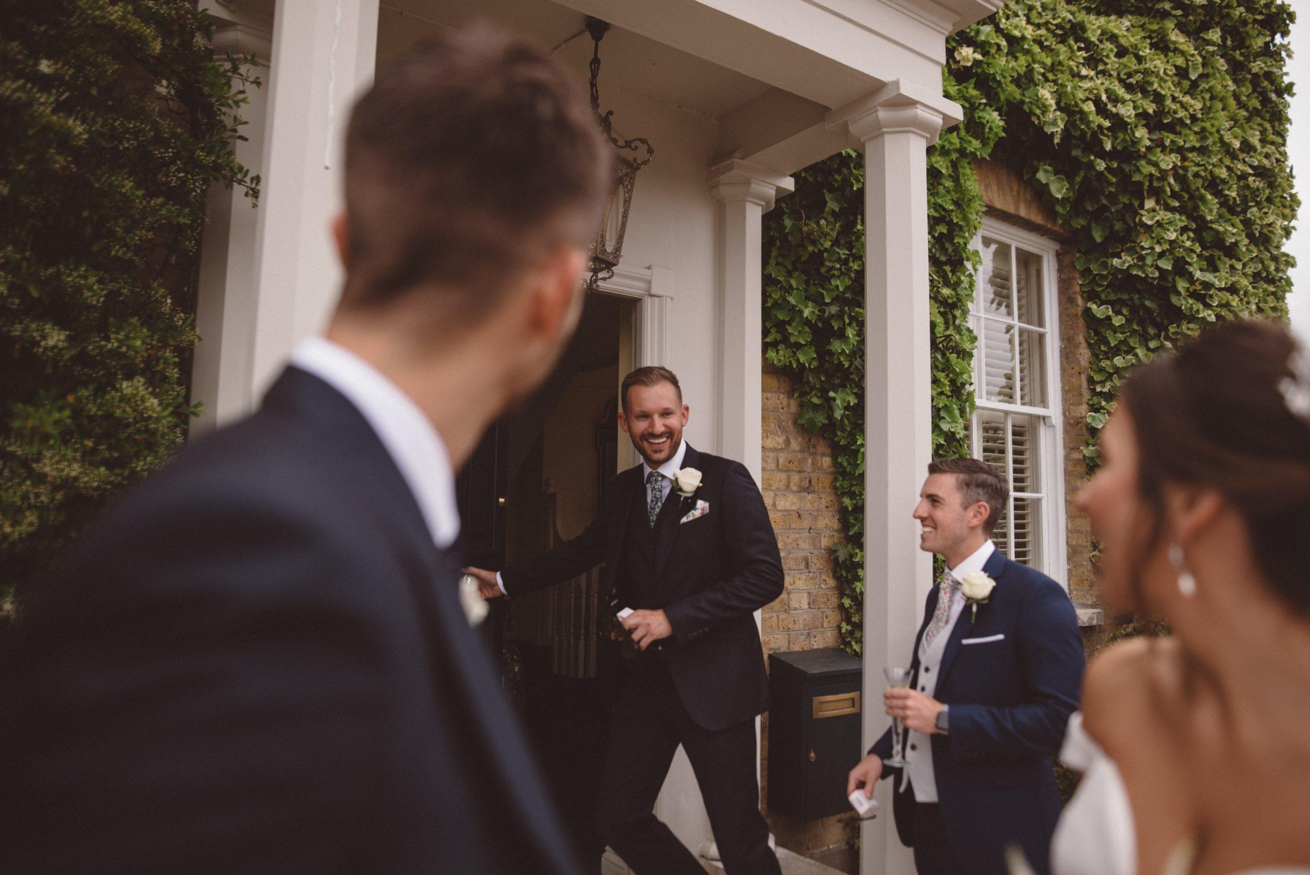 fun natural wedding moments at Friern Manor