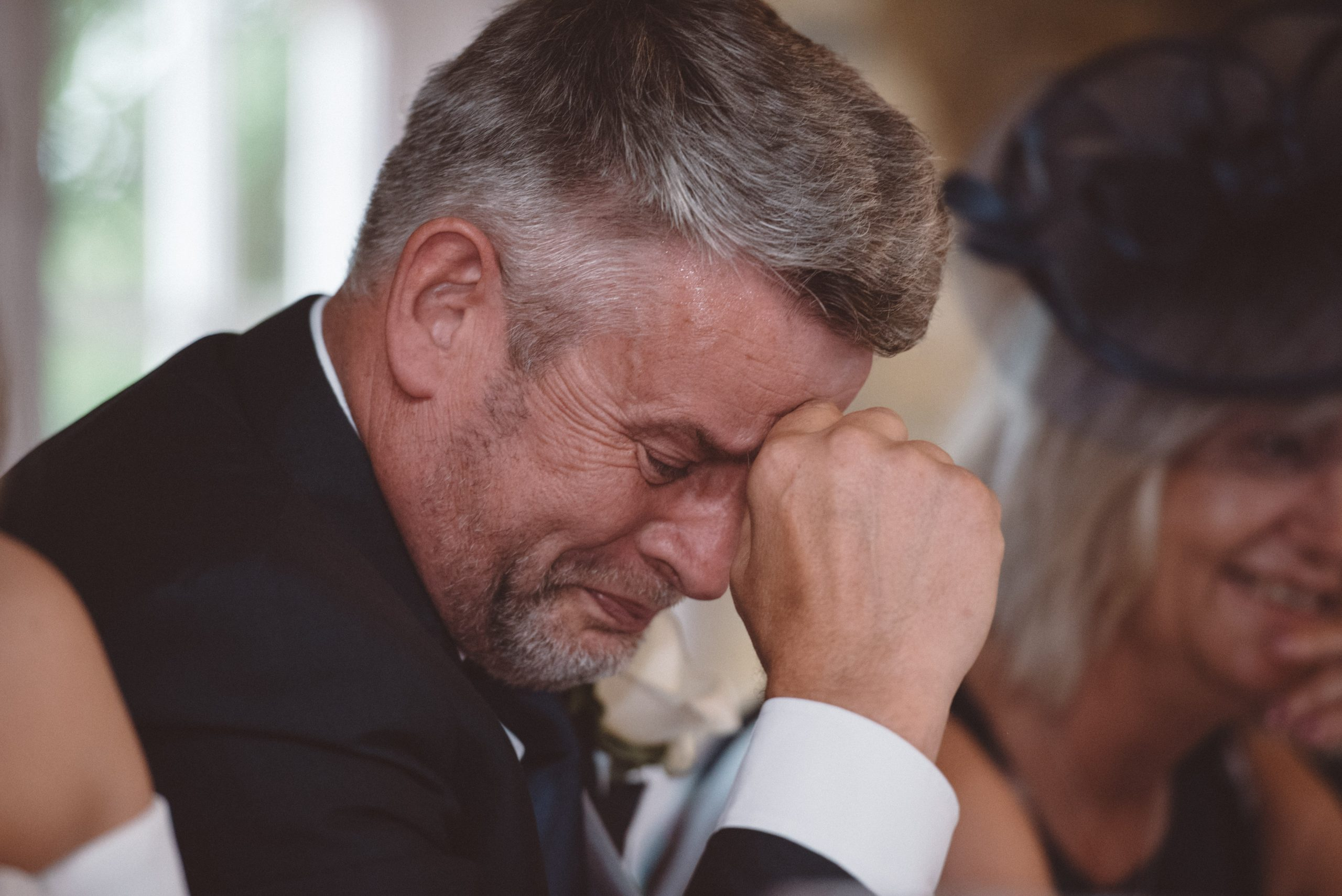 emotional father of the groom at Friern Manor speeches