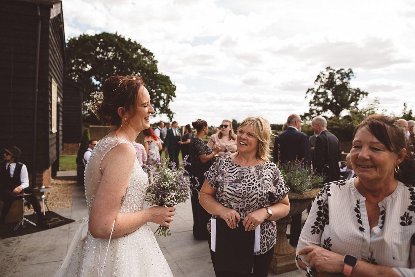 Milling Barn wedding organiser with bride