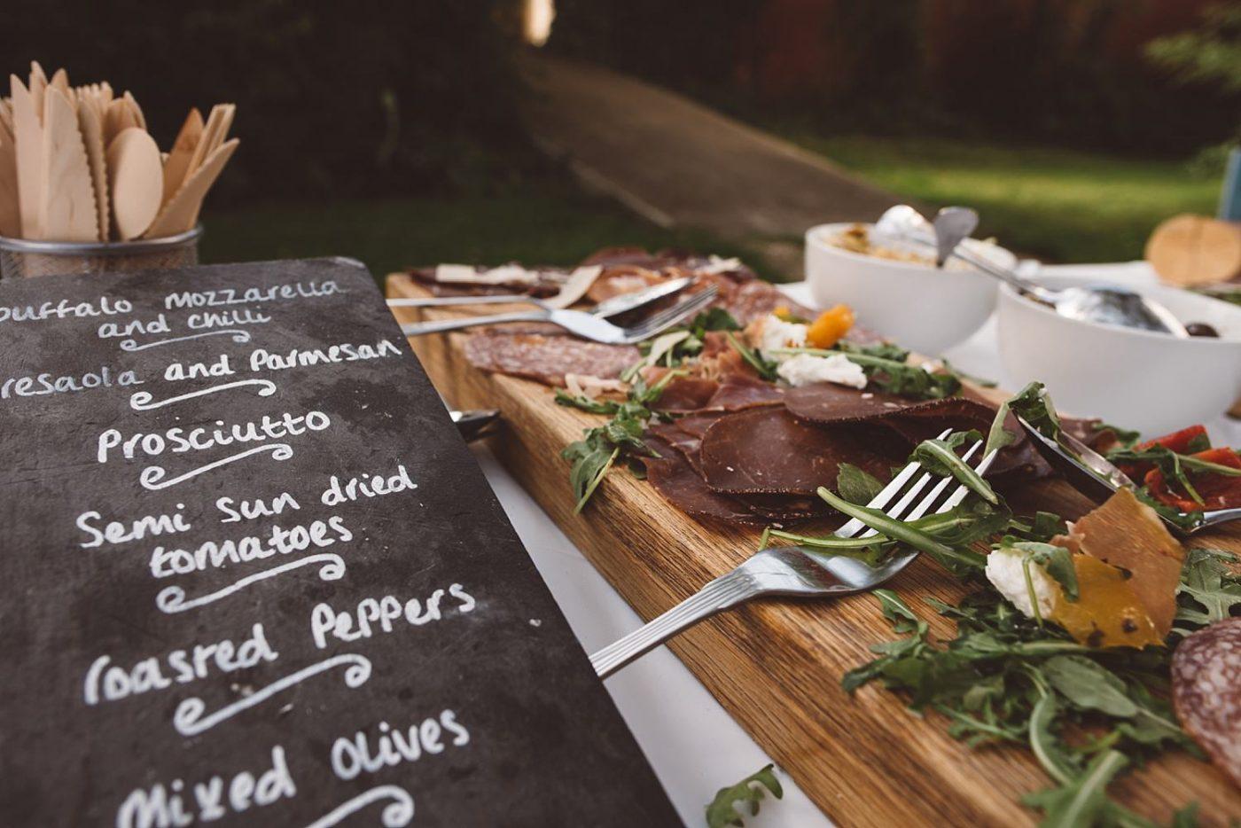 wedding food at Leicestershire wedding