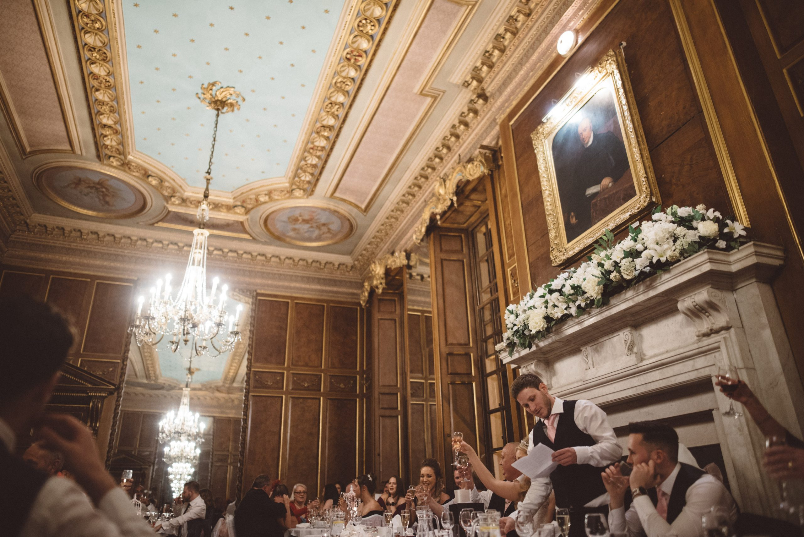 wedding speeches at Gosfield Hall