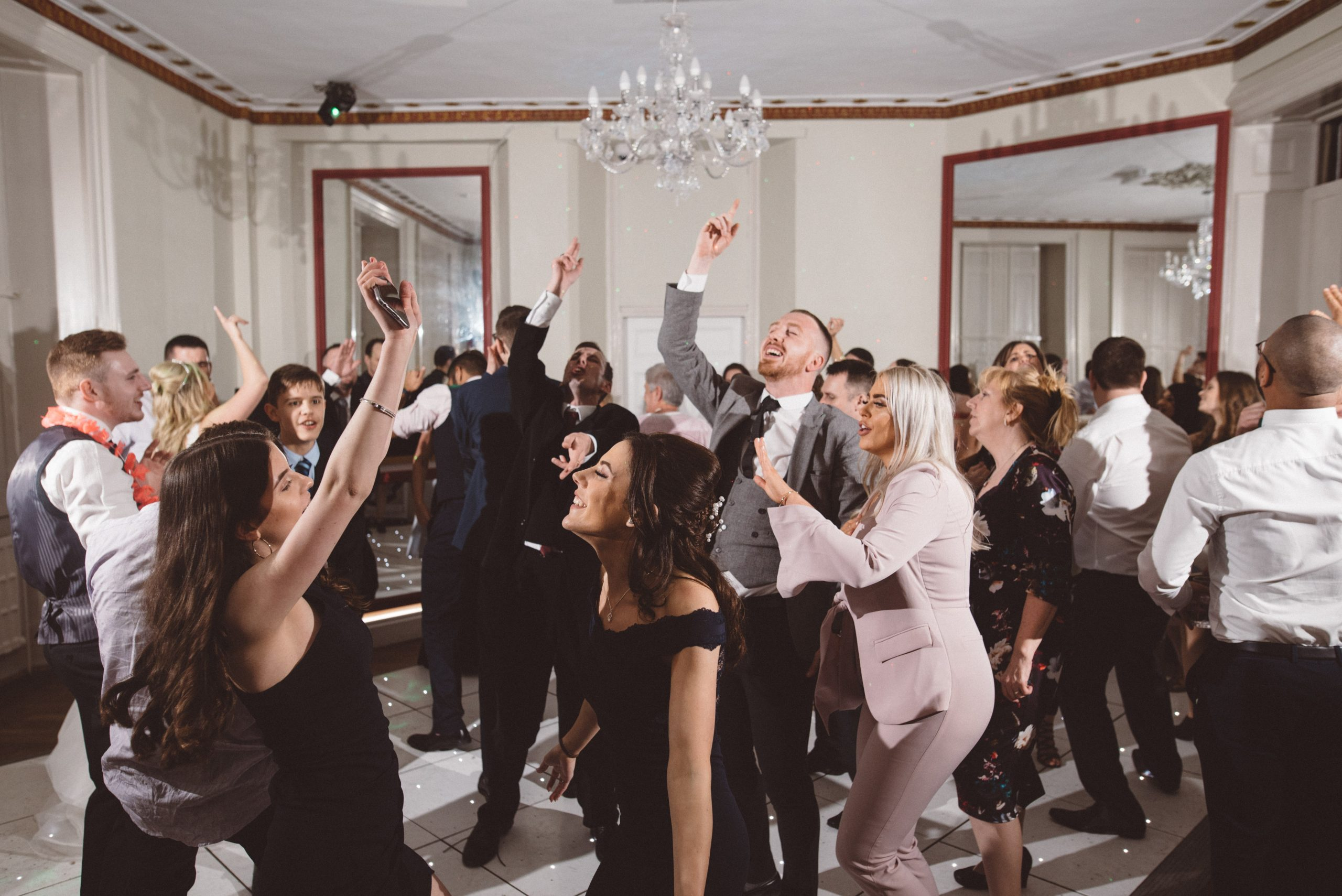 dancing guests at Gosfield Hall