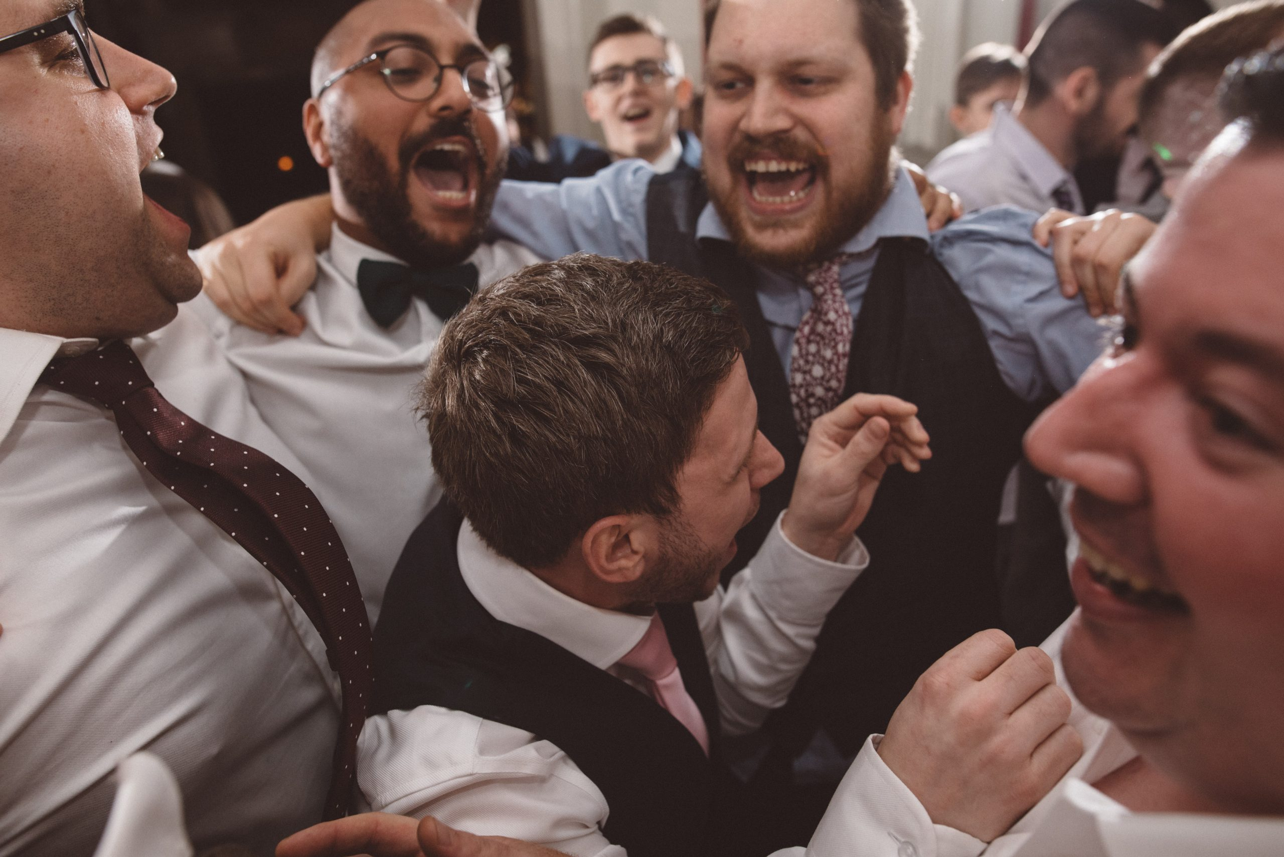 mosh pit at an essex wedding
