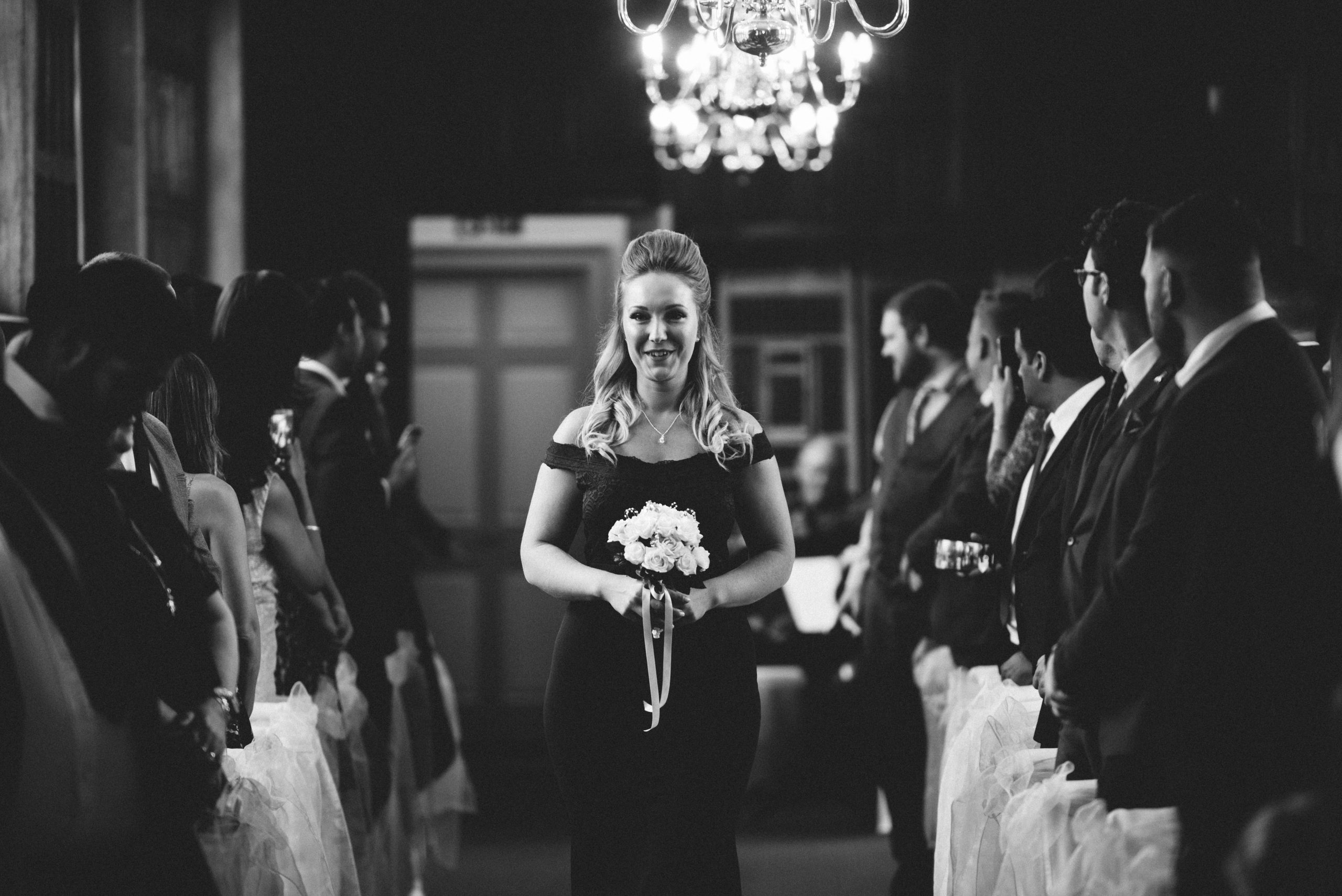 walking down the isle at Gosfield hall