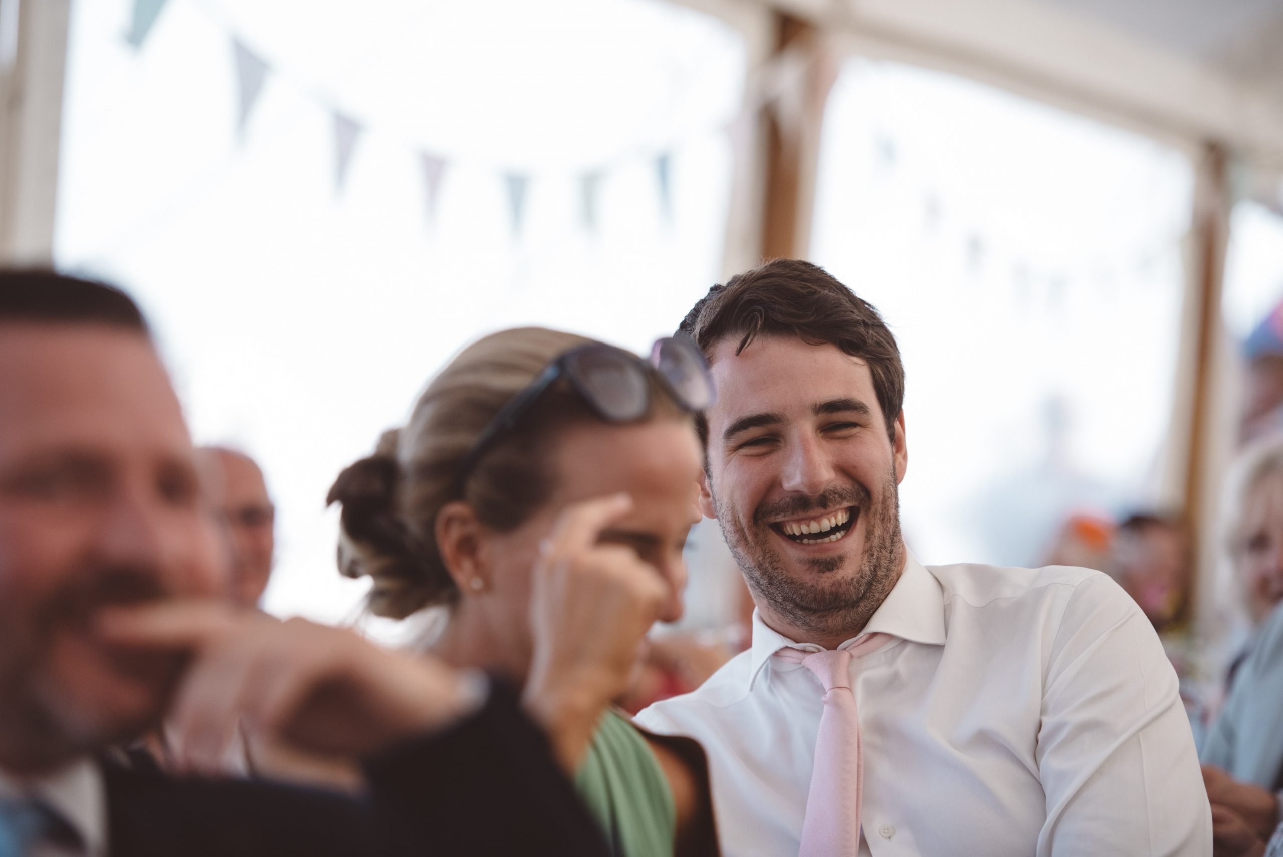 candid wedding speech photo at Carswell weddings