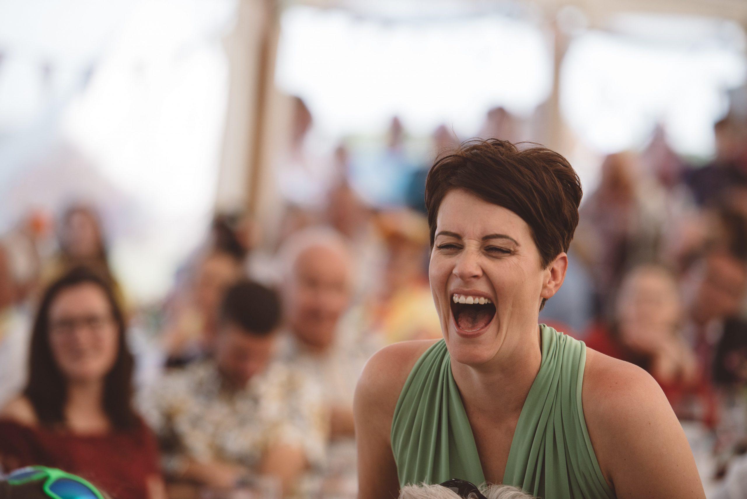 fun wedding photo at Carswell weddings