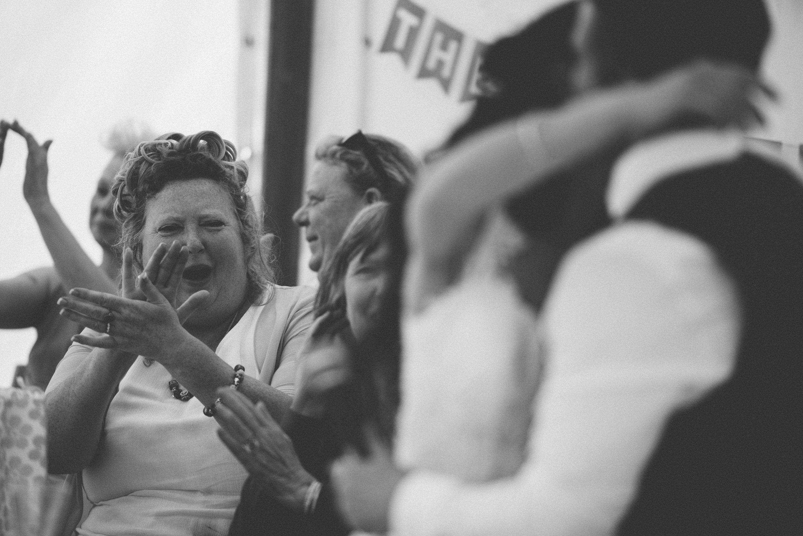 Documentary wedding photo at Carswell weddings