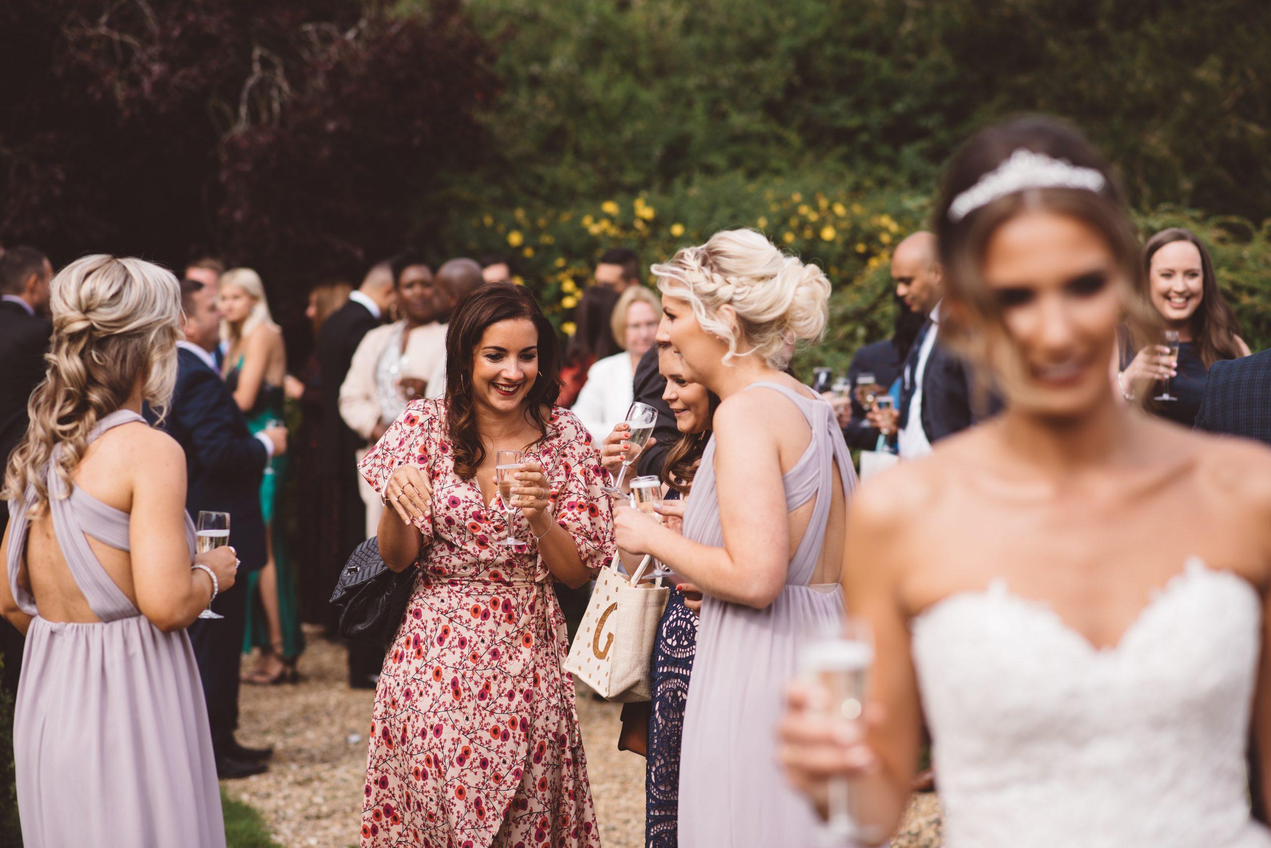 guests at Keythorpe Manor wedding