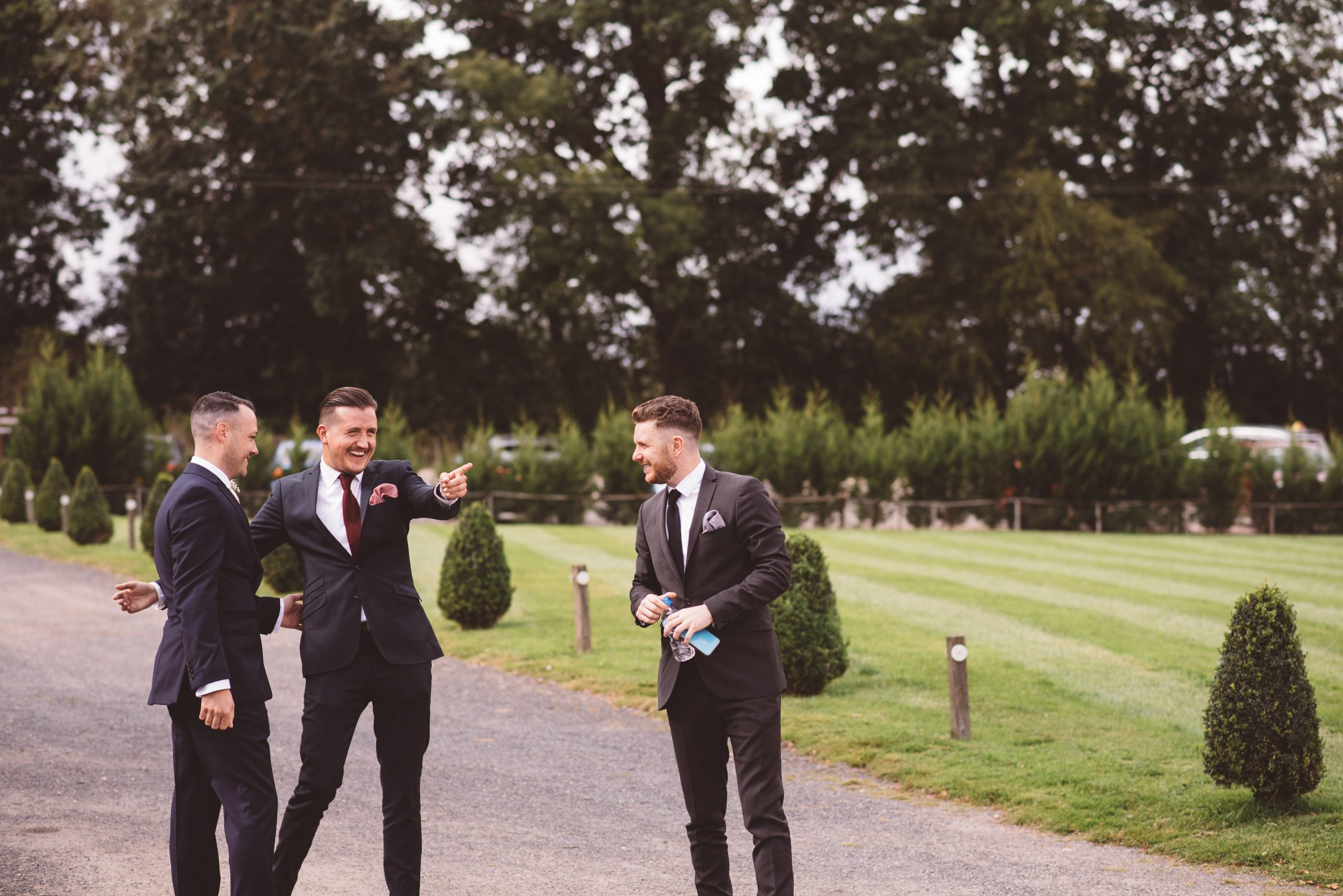 groom with his mates at Keythorpe Manor