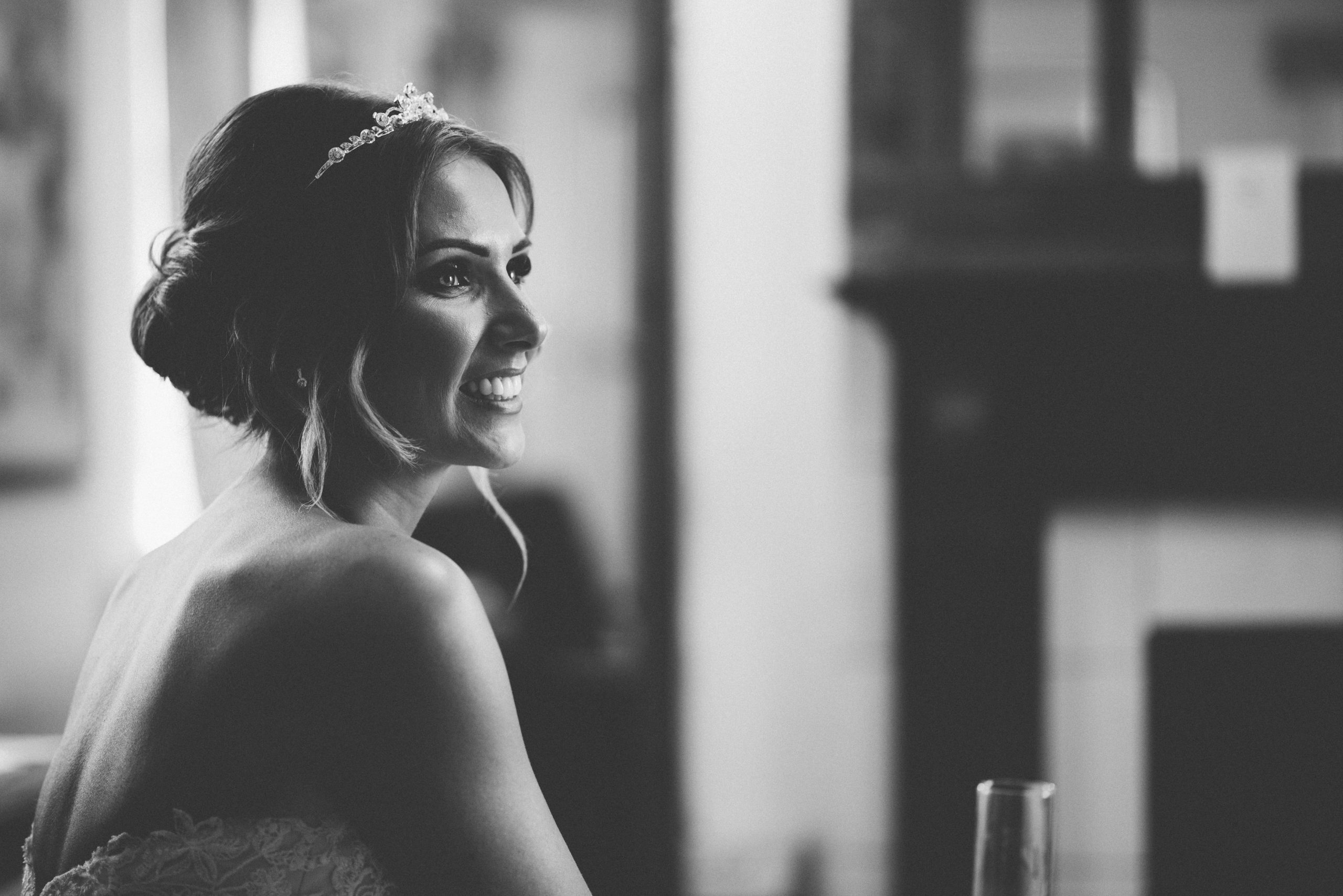 leicestershire wedding hair and make up photo of bride