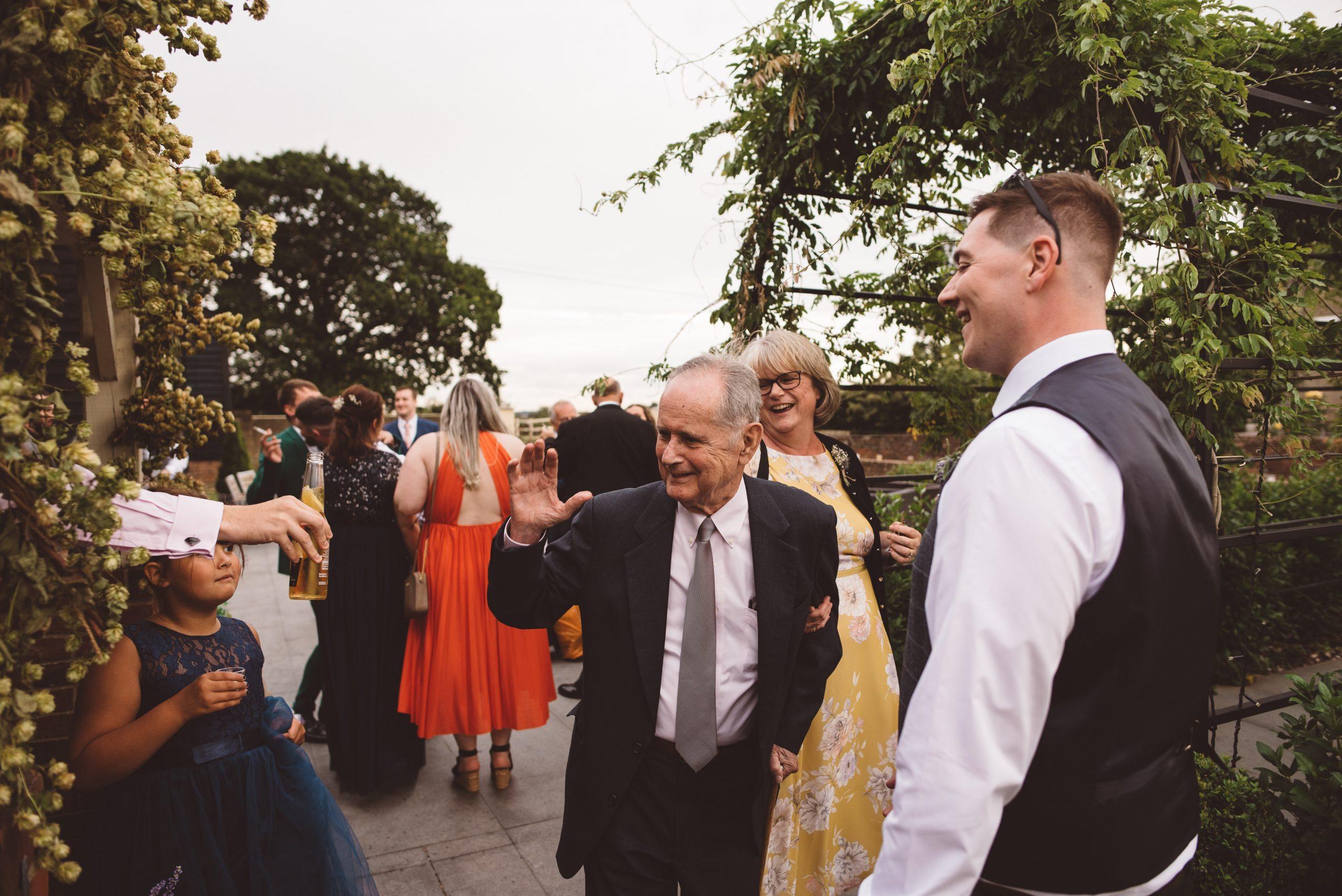 Natural wedding photo in Hertfordshire