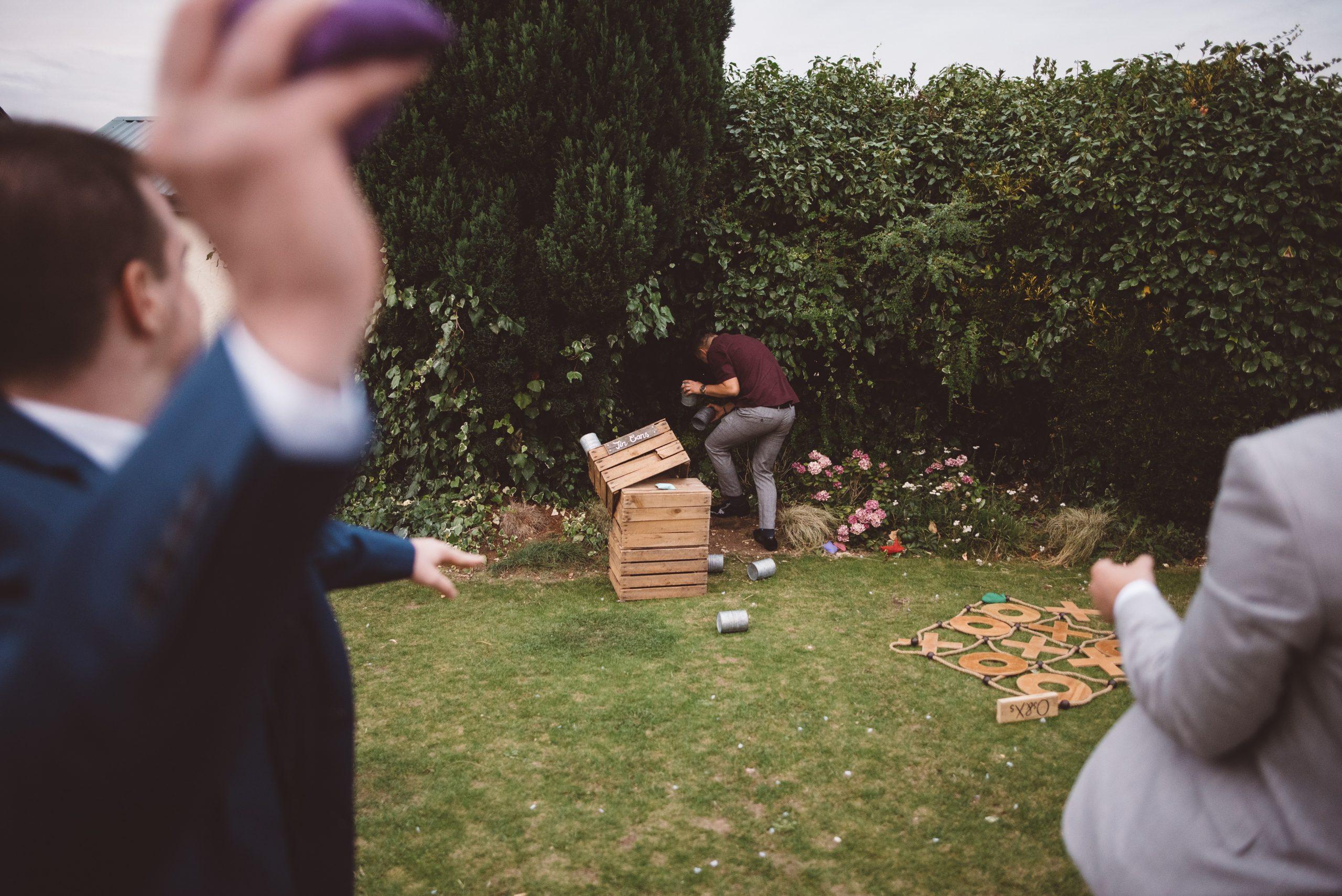 Fleur de Lace tin can wedding game