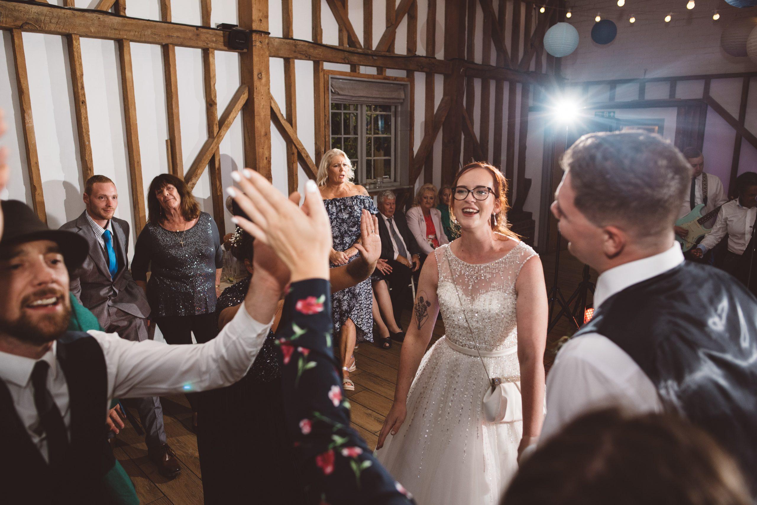 fun wedding dance floor in Hertfordshire