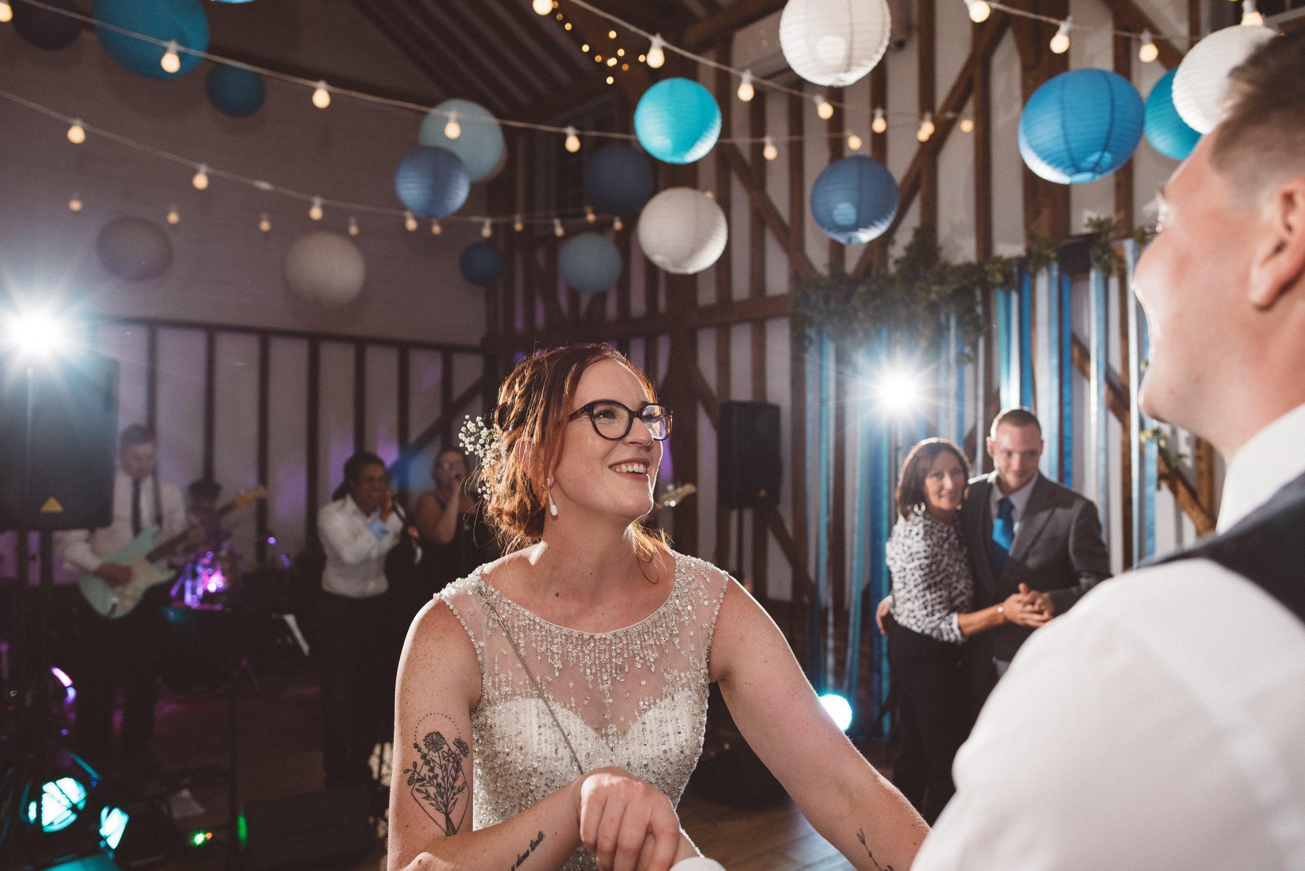 wedding first dance under Fleur de Lace details