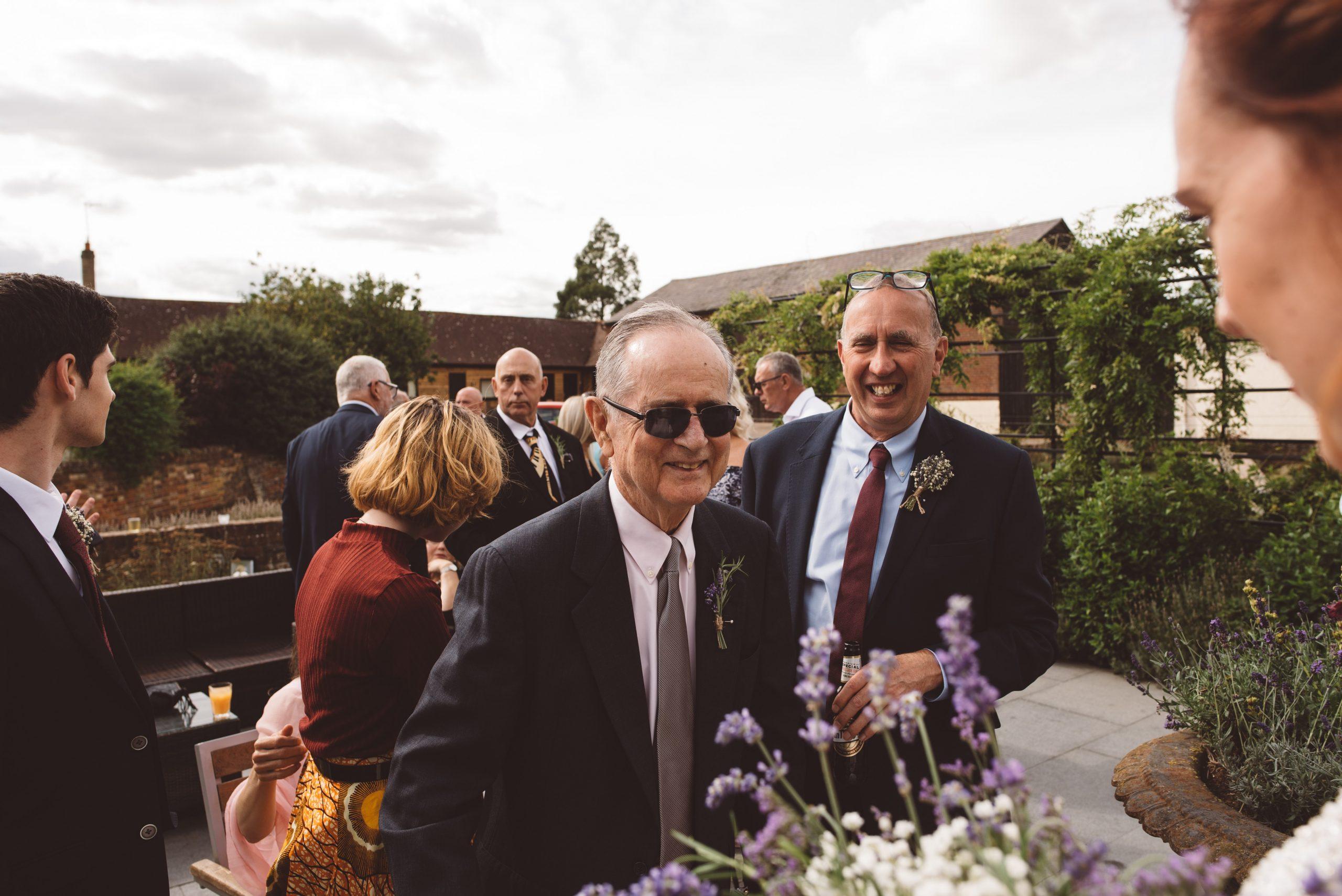 proud grandparent at wedding in Hertfordshire