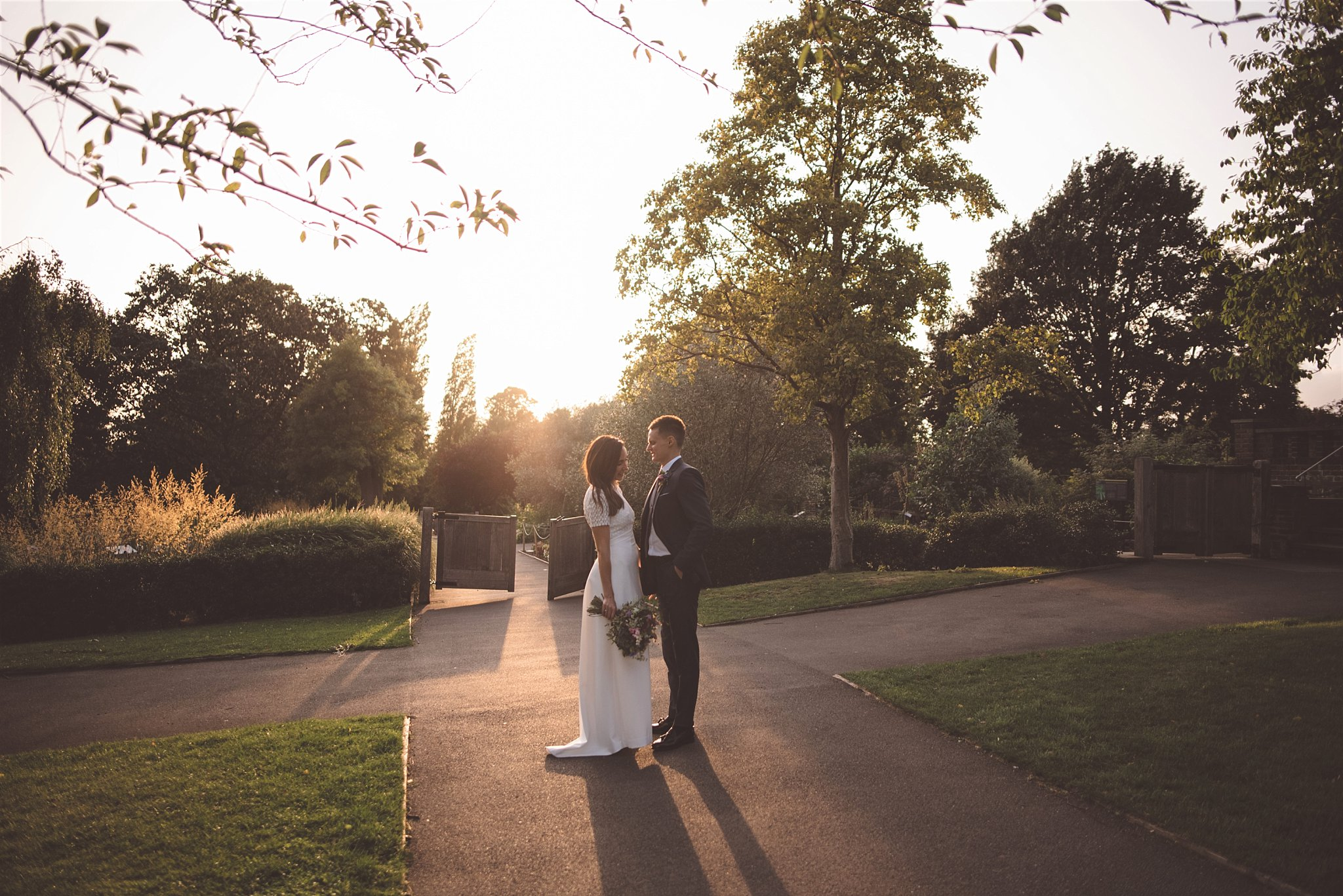 Golden hour wedding photography in London