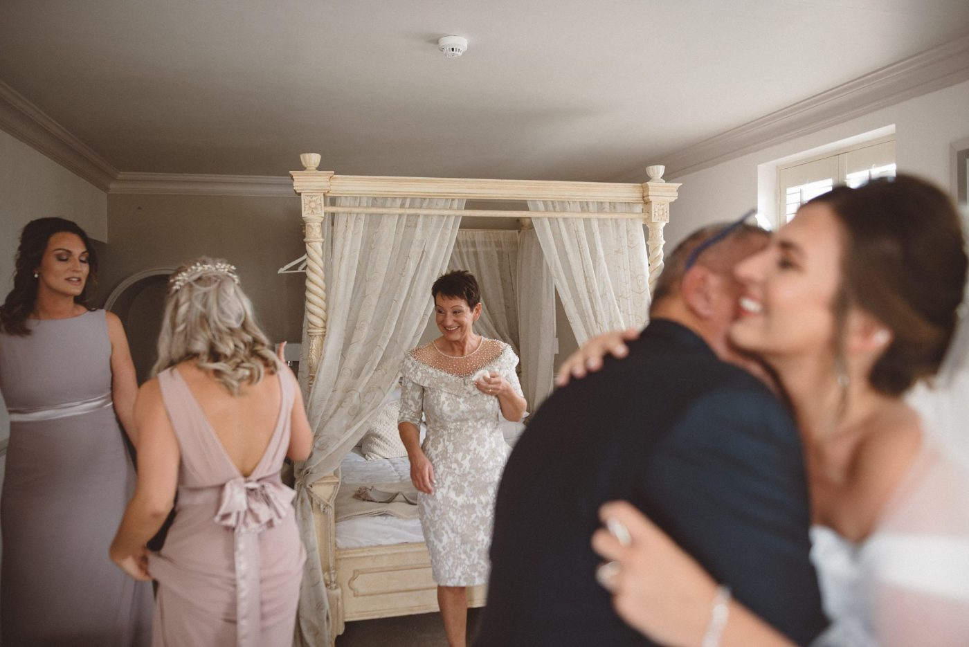 Emotional bride & father of the bride at Friern Manor