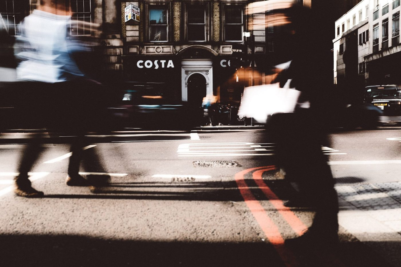 Costa in London long exposure photography