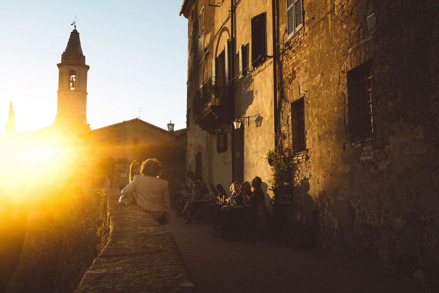 Umbria street photography at golden hour