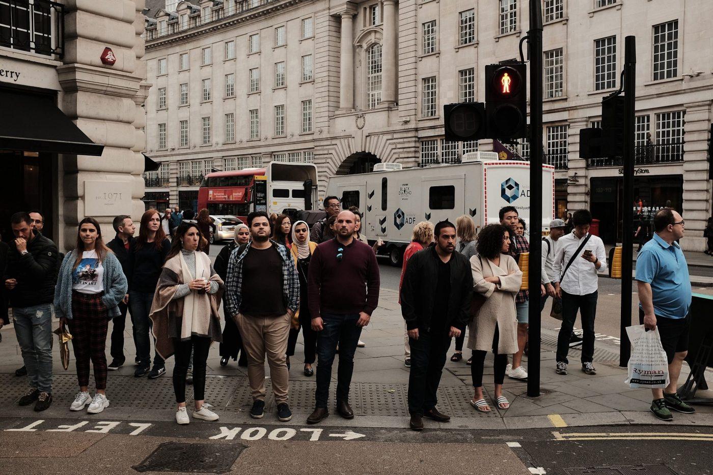 London rush hour street photo