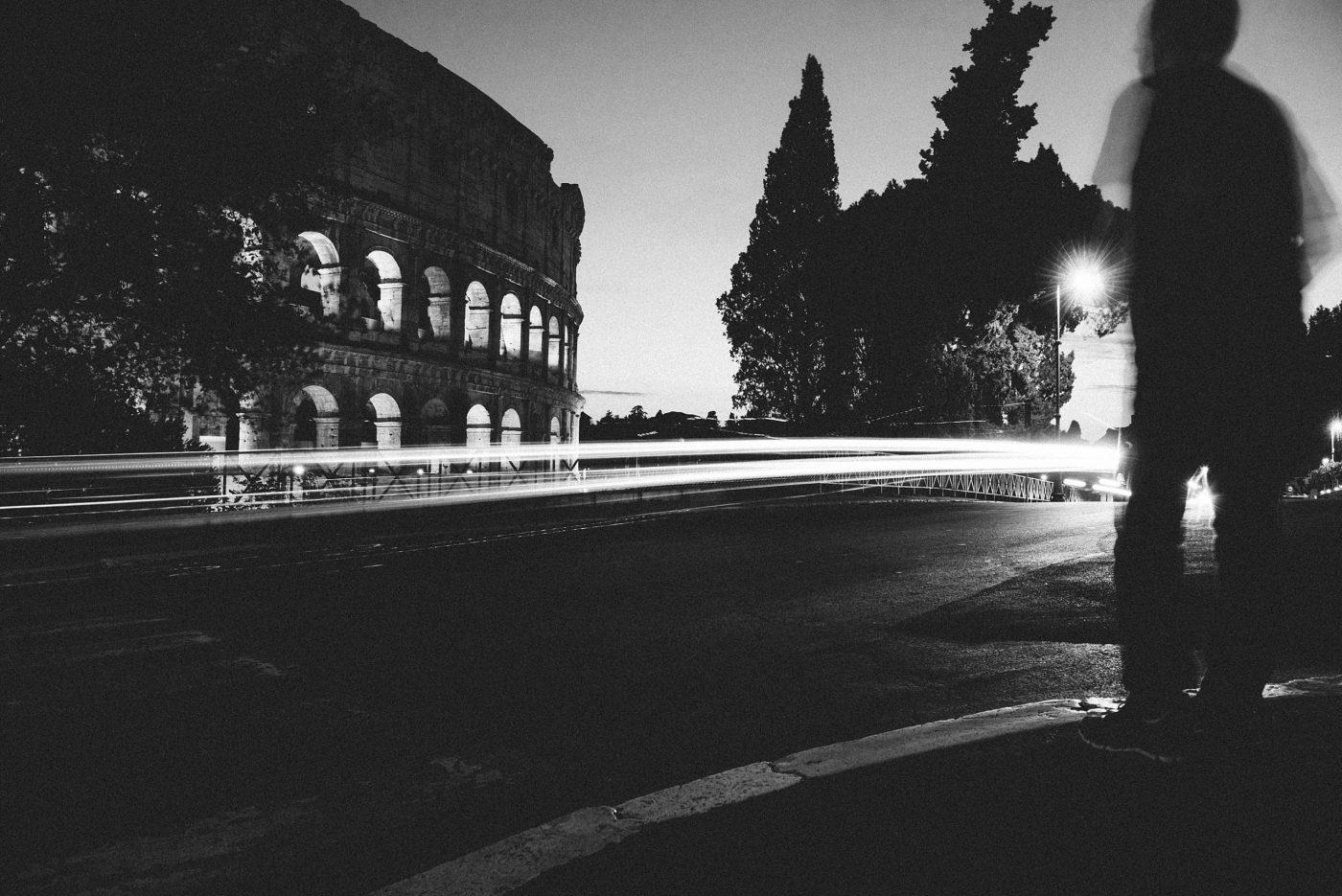 The Colosseum Rome long exposure photo