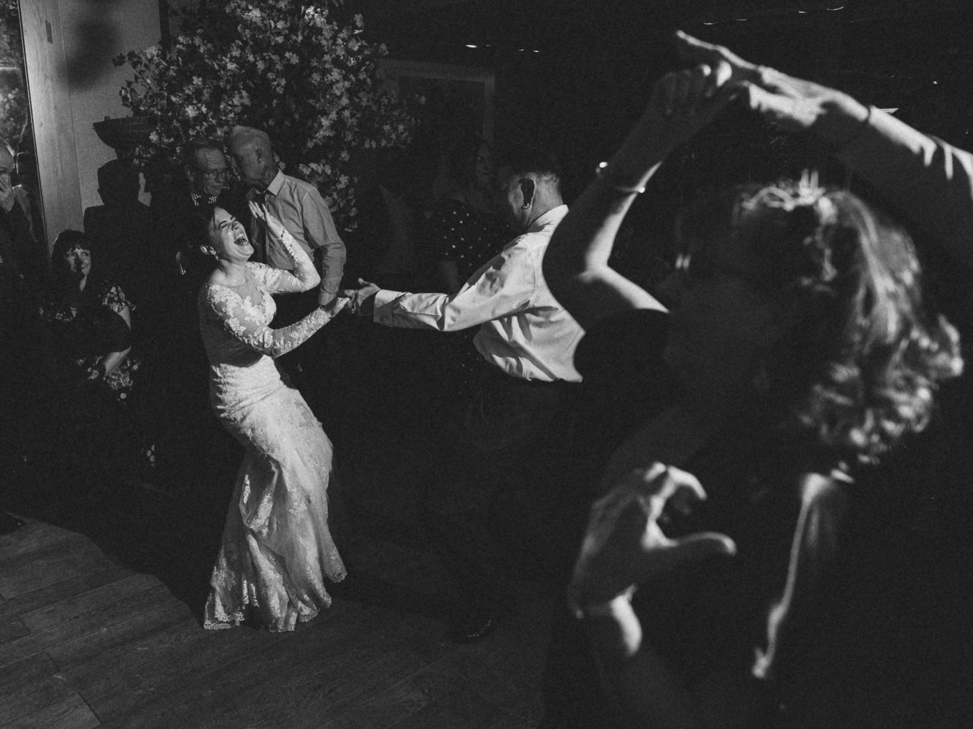 bride and groom first dance at Roslin beach hotel