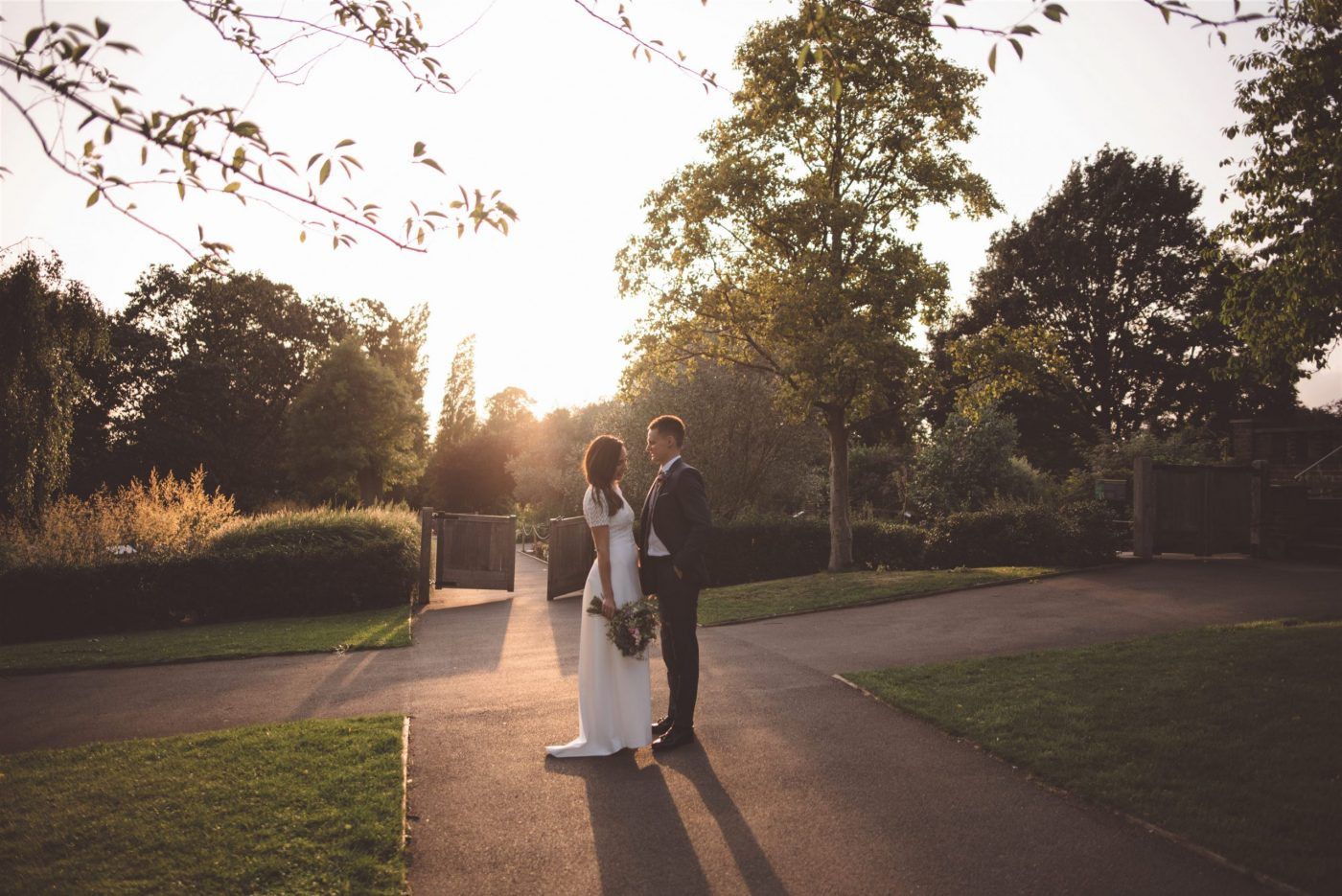 Golden hour wedding photography at Horniman Museum