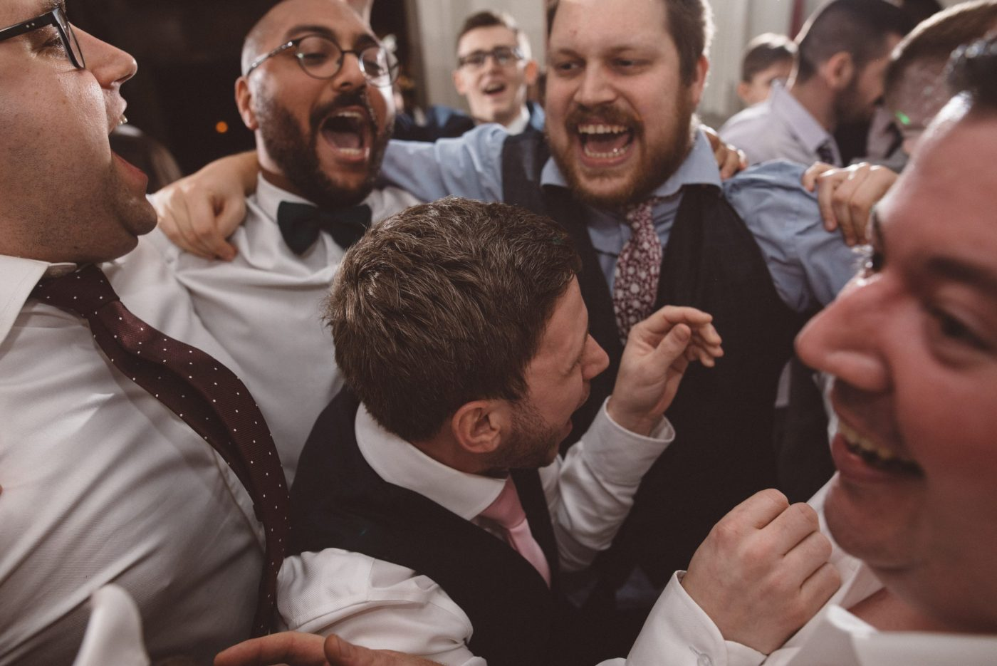 Mosh pit at a gosfield hall wedding