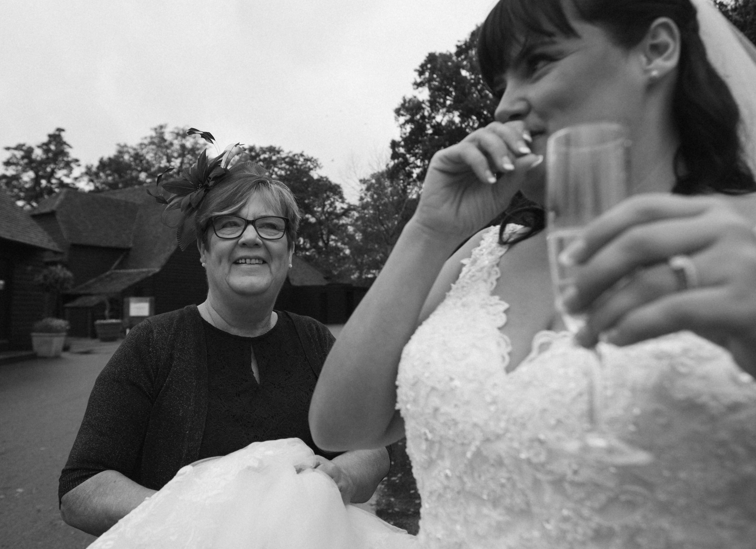 Mother of the bride with her daughter at Blake hall