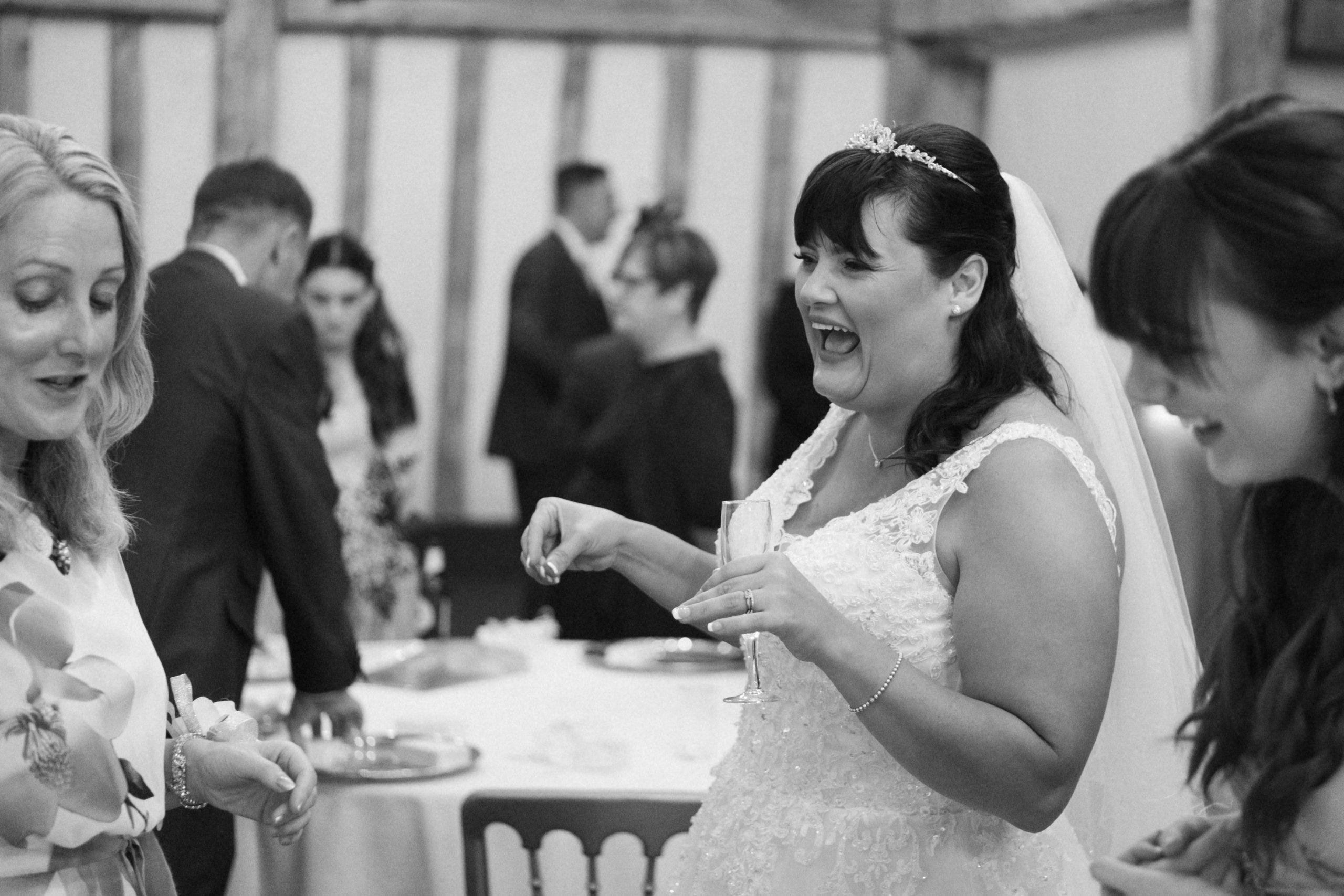candid wedding photo at Essex wedding