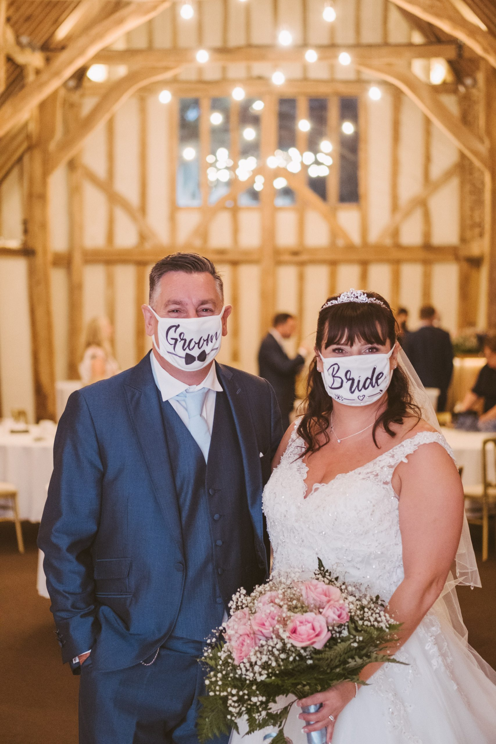 Covid 19 wedding at Blake Hall