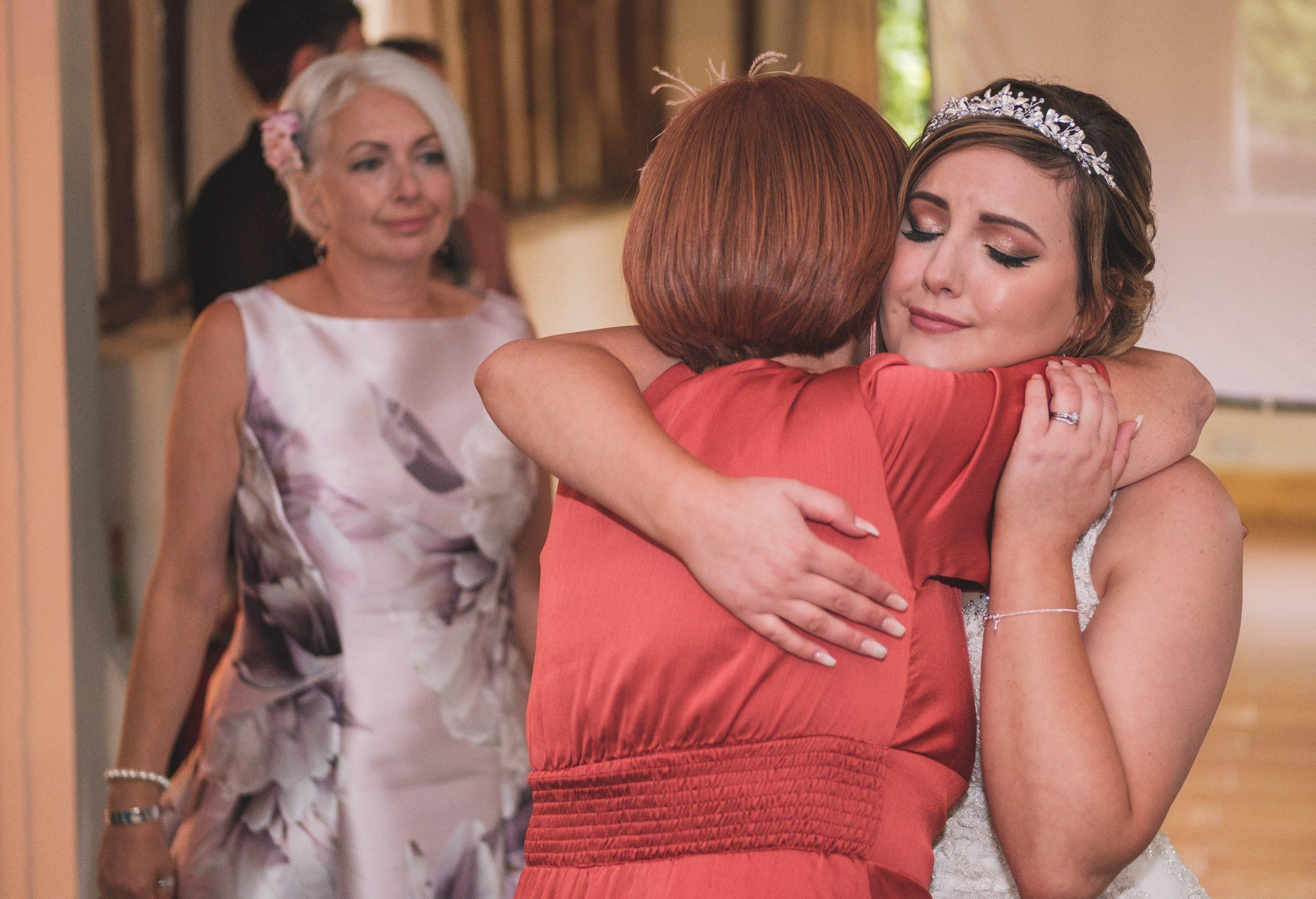 bride during emotional wedding speeches at Reid Rooms