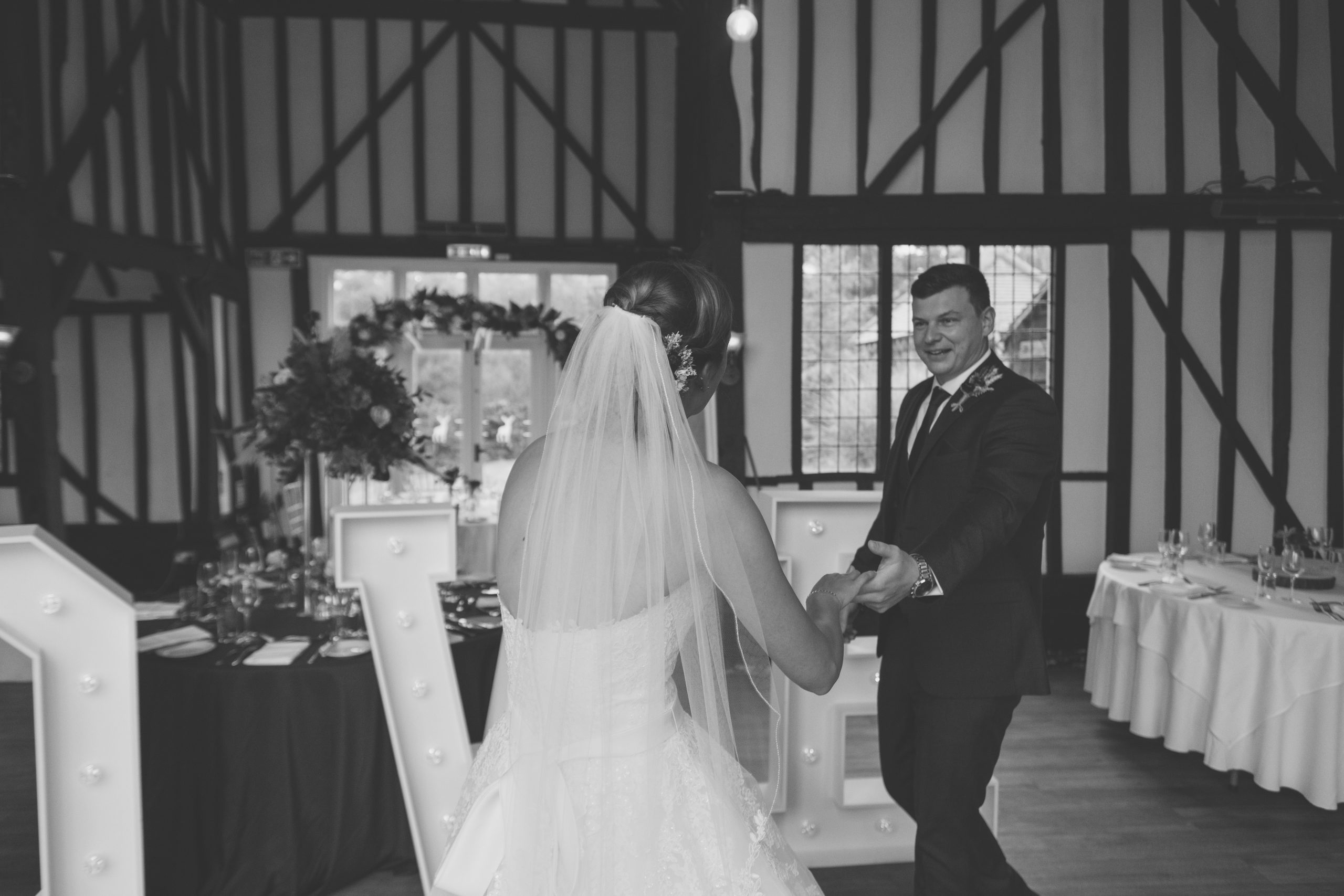 bride and groom first dance at the warren estate