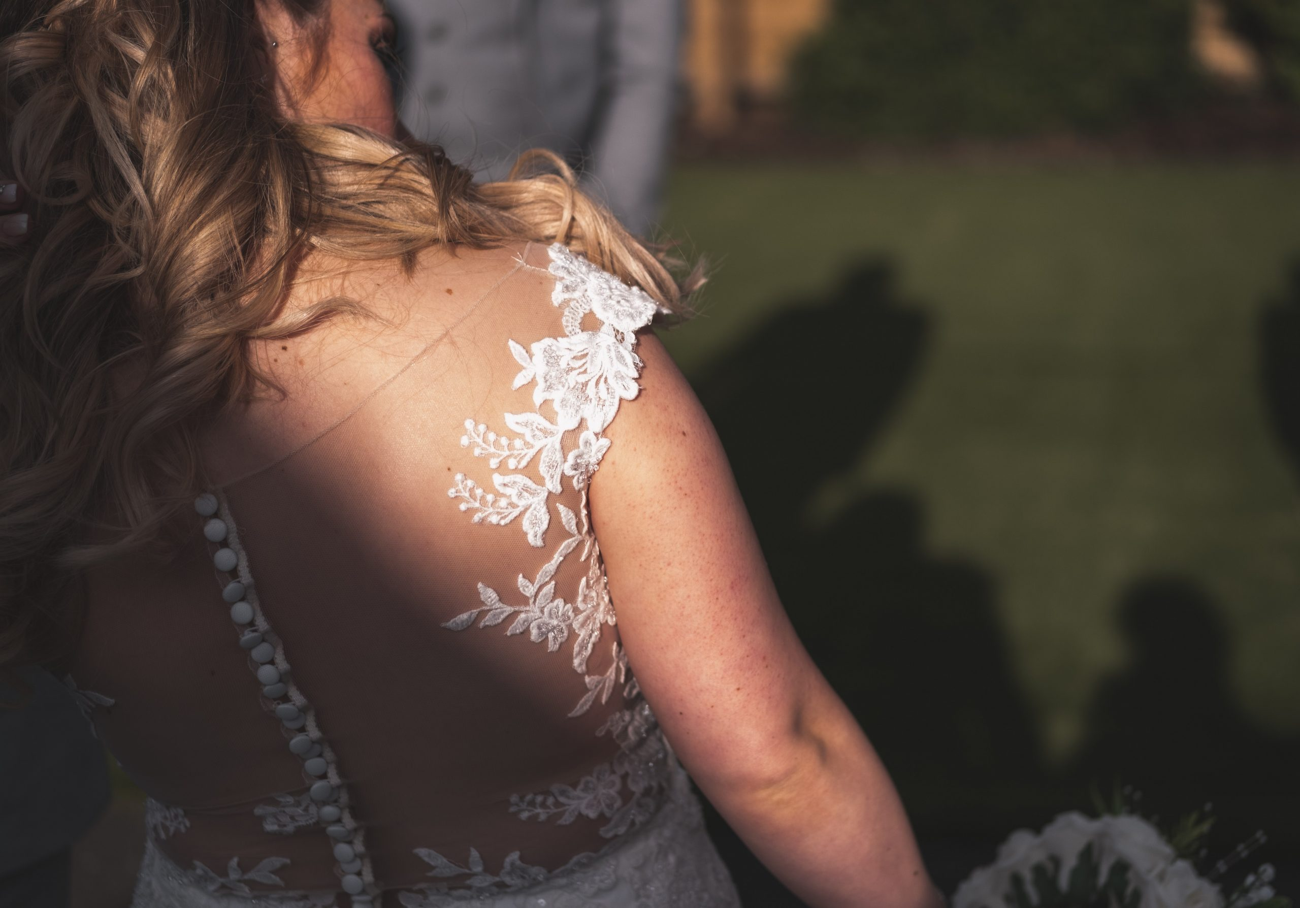 Essex wedding dress details