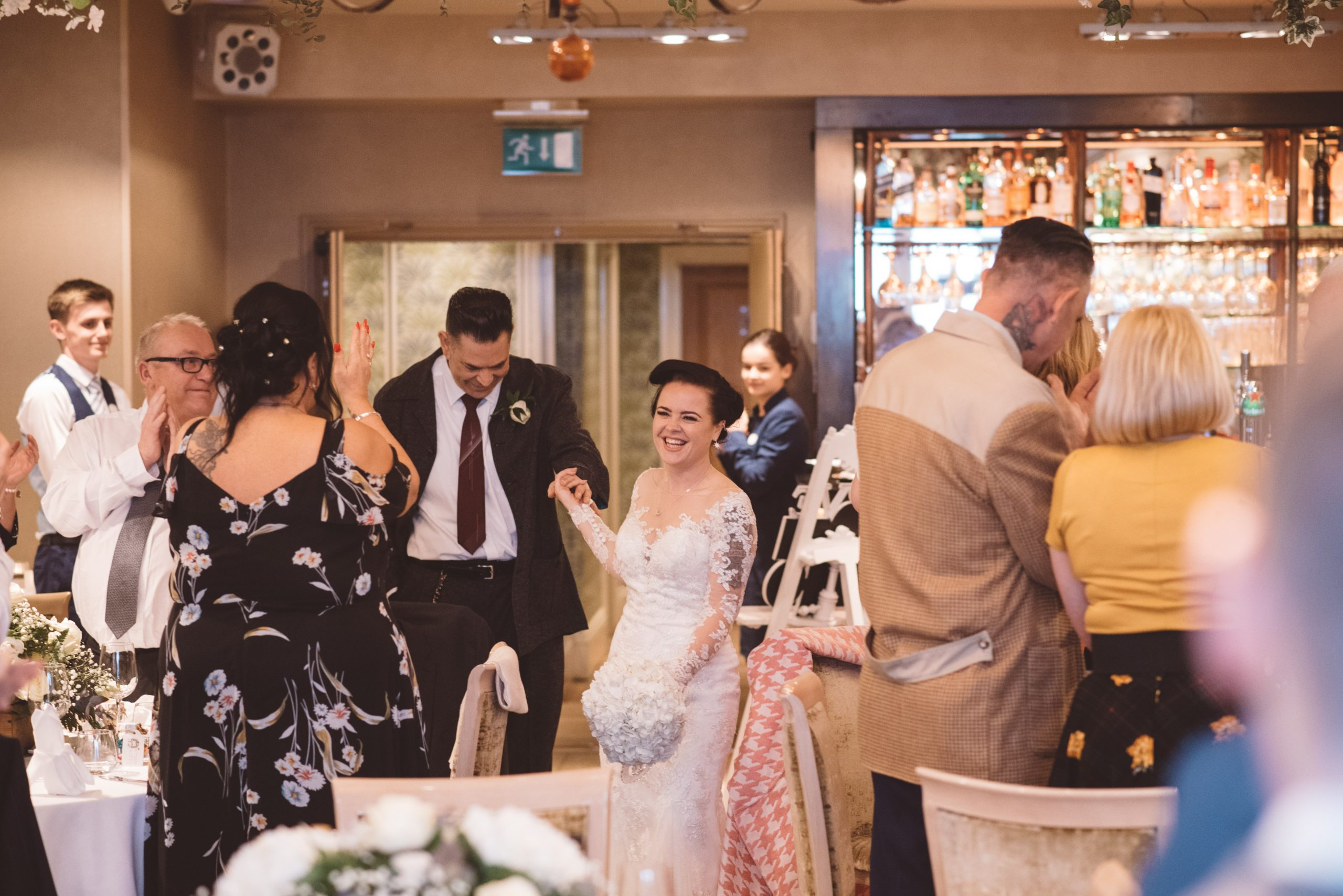 bride and groom at the roslin beach hotel